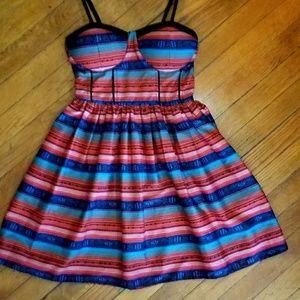 UO Aztec / Tribal Pattern Circle Dress